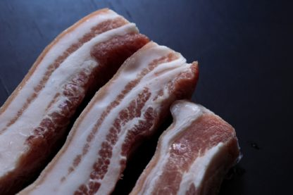 Slice pork belly