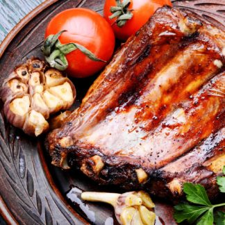 Roasted barbecue pork ribs