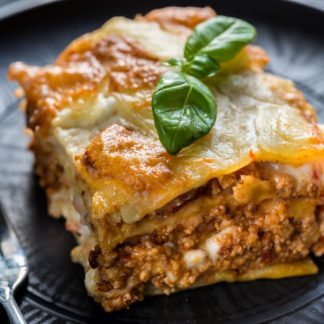 Lasagna with sausage