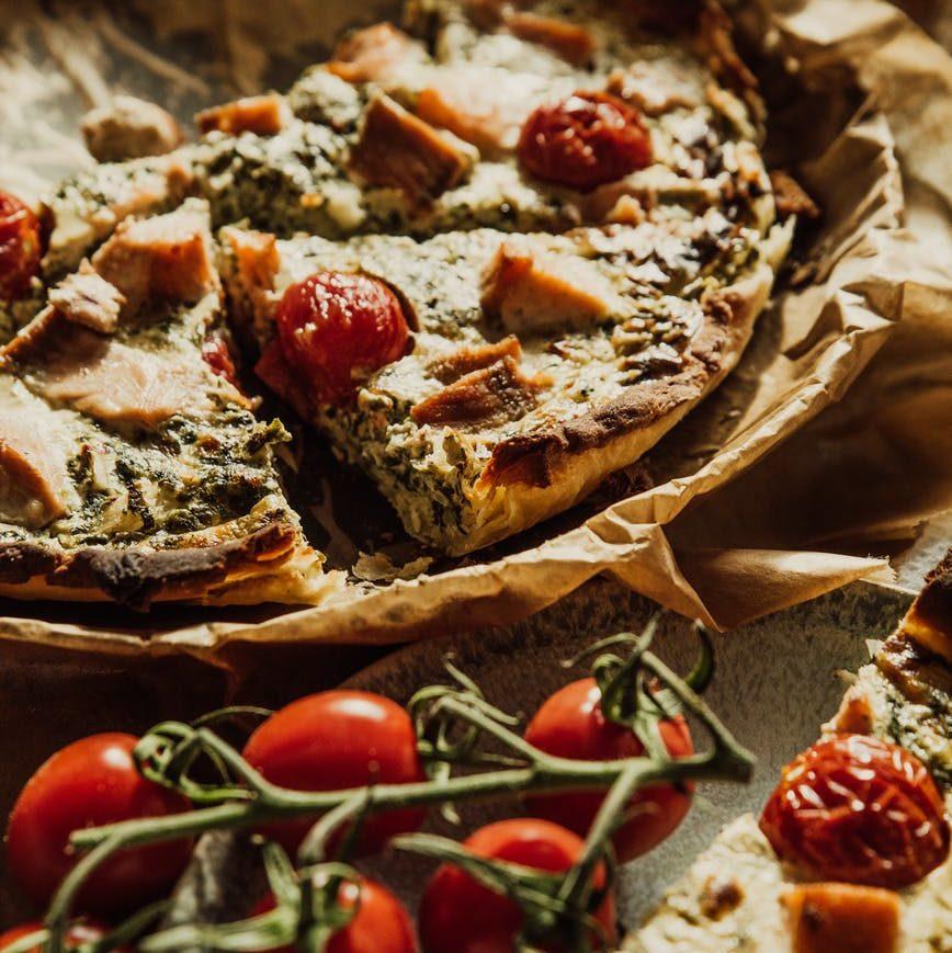 bread food healthy pizza